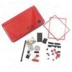DSi XL Behuizing - Rood met opdruk